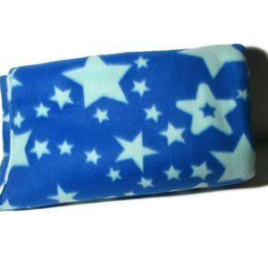 Other - Fleece Sewing Fabric Blue Large Stars 1.75 yds